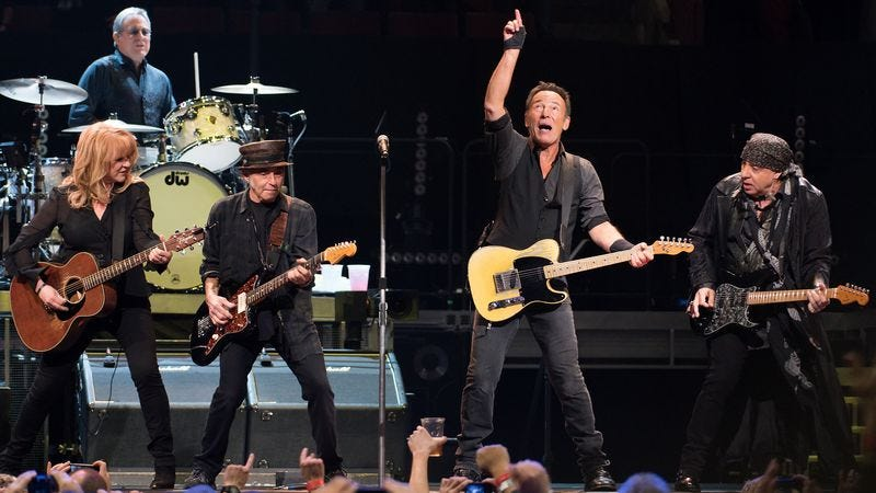 Springsteen, indicating where snow comes from. (Photo: Getty Images)