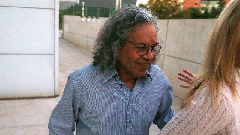 Local robber baron and Insys founder, John Kapoor, seen leaving an Arizona district court after being arrested on racketeering charges last year Photo: AP