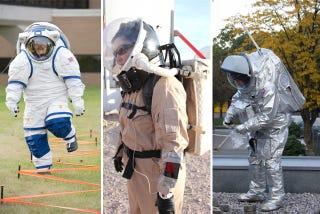 Illustration for article titled Los trajes que nos llevarán a Marte se parecerán a estos prototipos