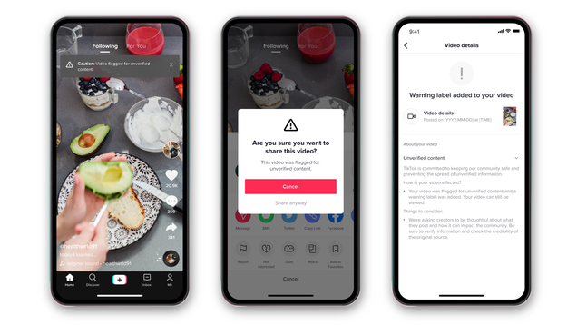 TikTok Is Adding a Potential Misinformation Warning Label to Save Us From Ourselves