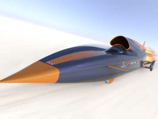 Illustration for article titled Bloodhound SSC Gang To Attempt To Break 1000 MPH Speed Mark