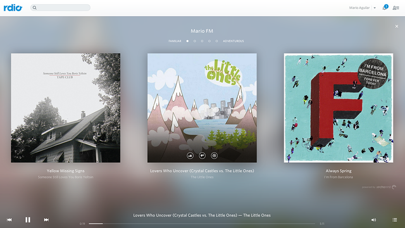 Illustration for article titled Rdio's New Personalized Radio Automatically Plays Exactly What You Like