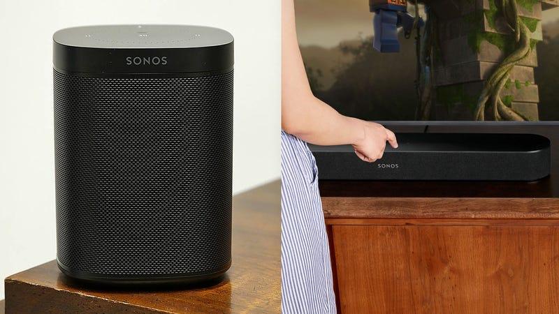 Sonos Beam | $349 | Sonos | Also at AmazonSonos One | $174 | Sonos | Also at AmazonSonos Sub | $599 | Sonos | Also at AmazonSonos Connect:Amp | $399 | Sonos | Also at AmazonRefurb Sonos Play:1 | $119 | Sonos