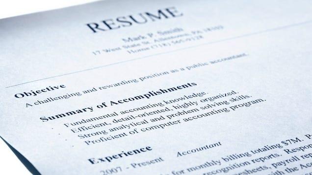 leave your old job description off your resumé list your