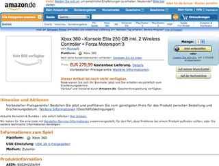 Illustration for article titled Amazon Germany Lists 250GB Xbox 360 Elite Package