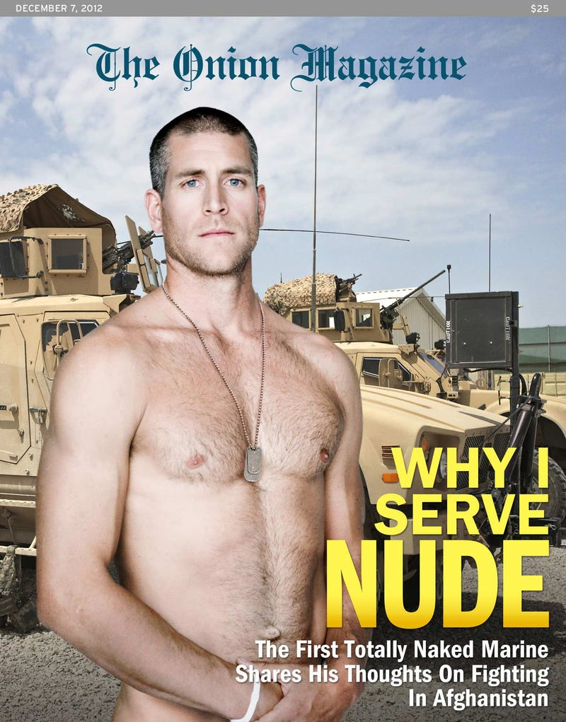 Naked male marines suit larry