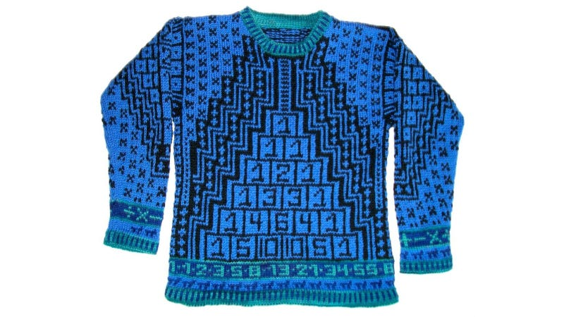Illustration for article titled Ruin Your Kid's Rep with This Nerdalicious Math Sweater