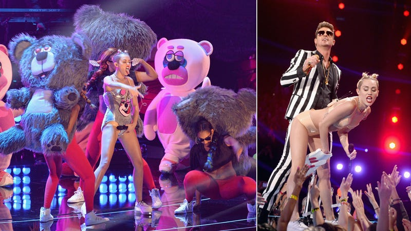 Illustration for article titled Miley Cyrus's X-Rated VMA Performance Horrifies Everyone Everywhere