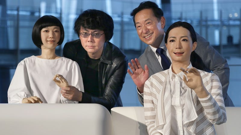 Illustration for article titled Japanese Scientists Unveil Terrifying Robot Women