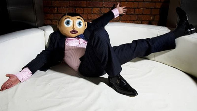 "Illustration for article titled R.I.P. cult comic Chris Sievey, a.k.a ""Frank Sidebottom"""