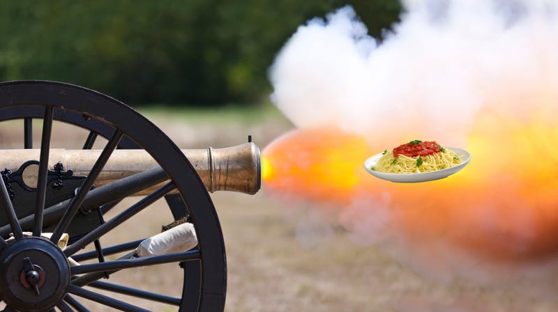Cooking competition show will blast entire meals into chef's faces with cannon