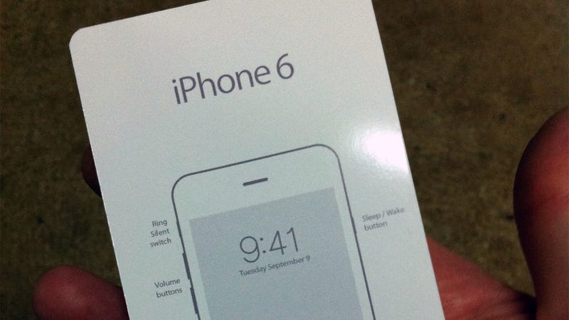 Illustration for article titled Leaked iPhone 6 Guide Appears to Confirm Announce Date, Other Details