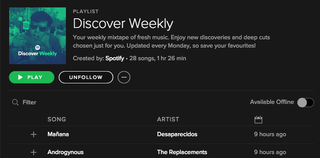"""Illustration for article titled Spotify's New """"Discover Weekly"""" Playlist Knows You So Well It's Creepy"""
