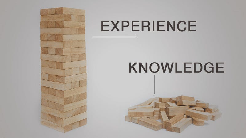 Illustration for article titled The Difference Between Knowledge and Experience