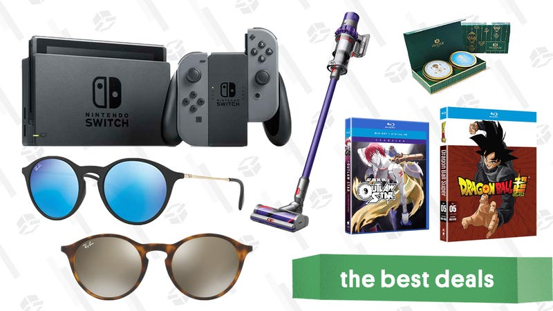 Illustration for article titled Monday's Best Deals: Nintendo Switch Bundles, Ray-Bans, Beauty Products, and More