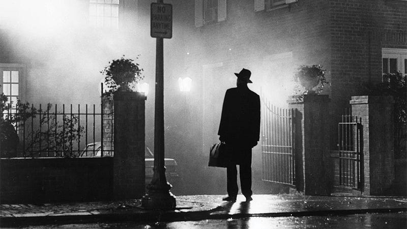An image from the 1973 film The Exorcist.