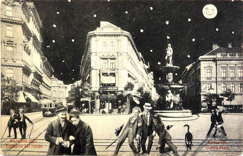 Illustration for article titled Száz évvel ezelőtt Budapesten gyártották a világ legmenőbb képeslapjait
