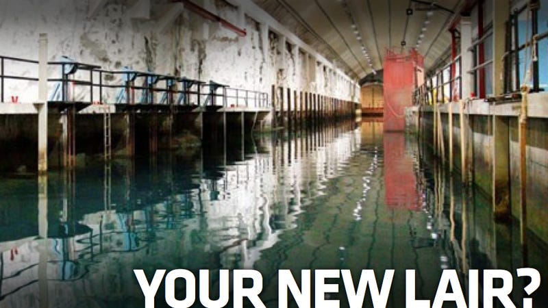 Illustration for article titled Attention Bond Villains, Buy This Submarine Base For $17.3 Million