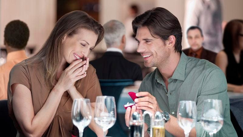 Illustration for article titled Two Dozen Restaurant Patrons Made Violently Ill From Marriage Proposal