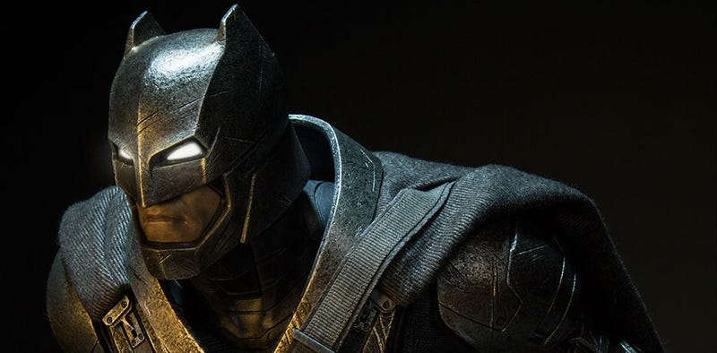 The Bat Armor, seen here as a Hot Toys collectible, was fabricated by Ironhead Studios. Image: Sideshow Collectibles