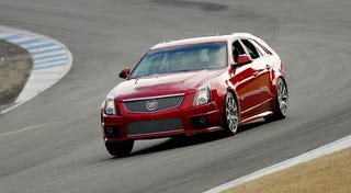 Illustration for article titled 2011 Cadillac CTS-V Sport Wagon: Track Photos