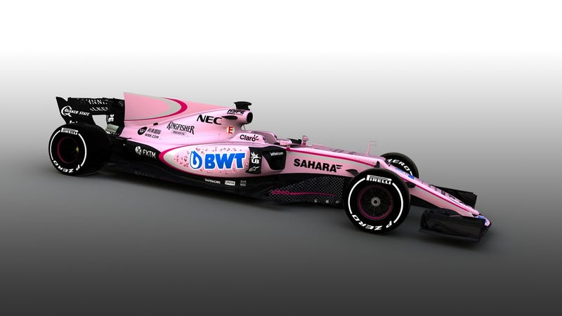 Illustration for article titled Force India goes for two in the pink (livery)