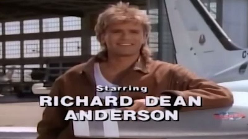 Illustration for article titled Without the theme music, MacGyver's intro is upsetting and odd