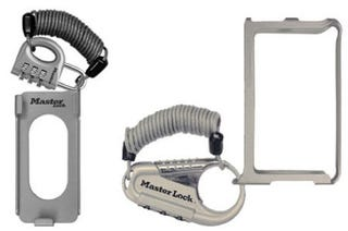 Illustration for article titled Masterlock's iCage Bike-Lock-Style Case Chains-Down Your iPod