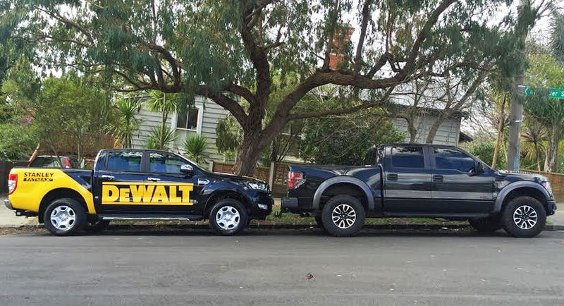new ford ranger left currentsoon to be old ford f 150 raptor right photo sent in by reader michael m