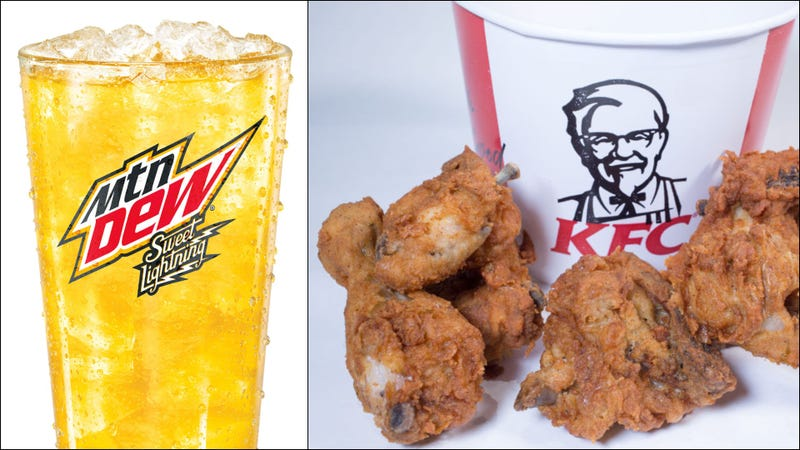 Illustration for article titled Mountain Dew created a soda designed to pair with KFC's Original Recipe chicken