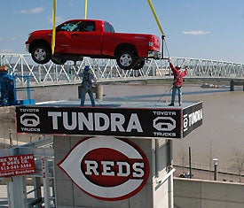 Illustration for article titled Cincinnati Reds Toyota Truck Giveaway Is A Bit Of A Sham
