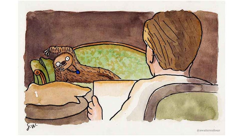 Illustration for article titled These Sloth Watercolors Are the Cutest Watercolors Ever