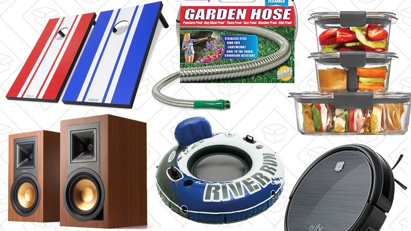Illustration for article titled Saturday's Best Deals: Lawn Games, Bookshelf Speakers, Anker RoboVac, and More