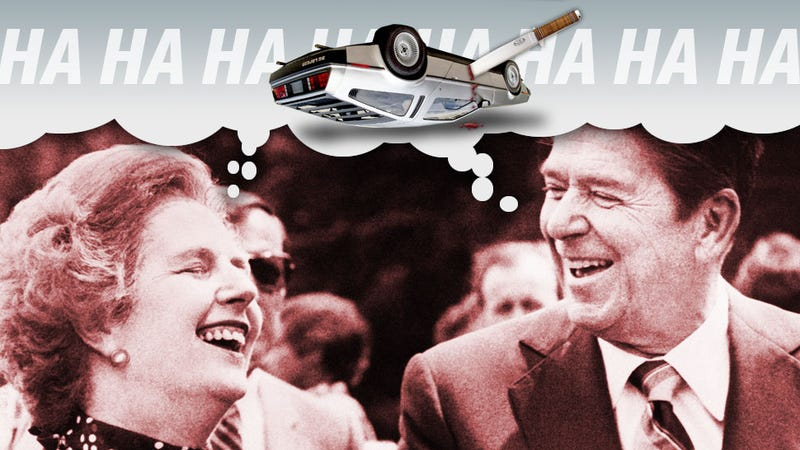 Illustration for article titled Did Ronald Reagan And Margaret Thatcher Conspire To Kill The DeLorean?