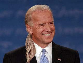Illustration for article titled Joe Biden Shows Up To Inauguration With Ponytail