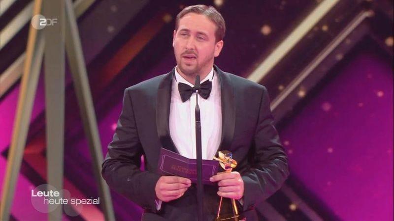 Illustration for article titled Fake Ryan Gosling crashes German movie awards, garners fake laughter