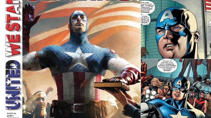 Illustration for article titled Captain America Becomes President America Next Week, In a Stunt Story That Might Actually Be Good