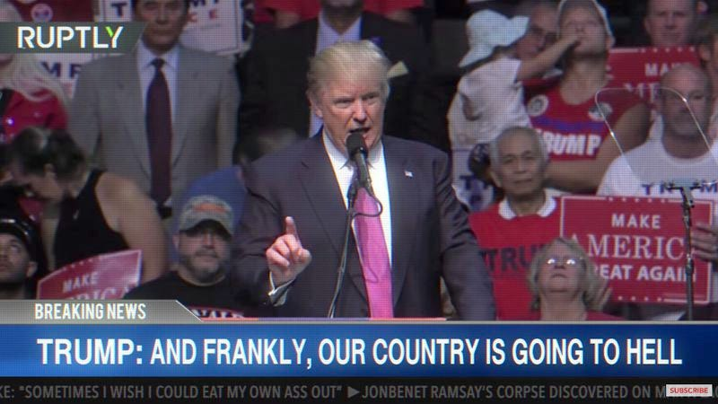 Screenshot: Donald Trump's Speeches As An Early 2000s Emo Song