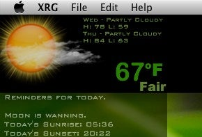 Illustration for article titled Yweather Puts the Weather On Your OS X Desktop