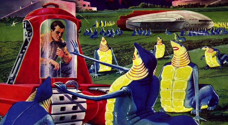 Illustration for article titled Alien life in our solar system, according to pulp-art legend Frank R. Paul