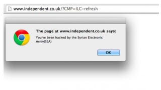 Illustration for article titled The Syrian Electronic Army Is Ruining Thanksgiving With Popups
