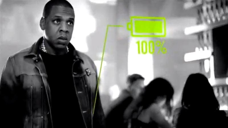 Illustration for article titled Jay-Z even looks cool in a battery commercial