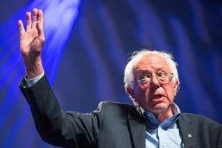 Sen. Bernie Sanders (I-Vt.) addresses hecklers and supporters at the Netroots Nation 2015 Presidential Town Hall July 18, 2015, in Phoenix.Charlie Leight/Getty Images