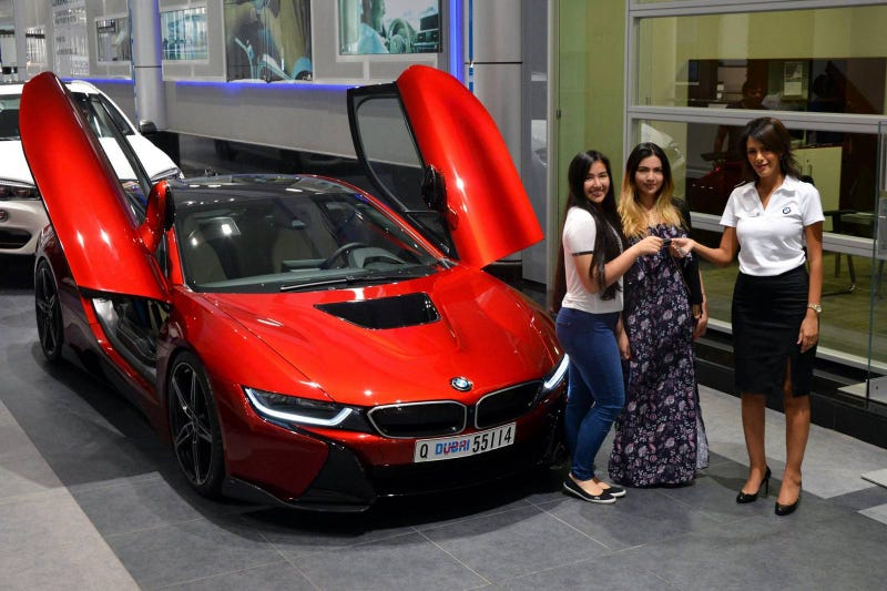 A Princess And Her Bmw I8
