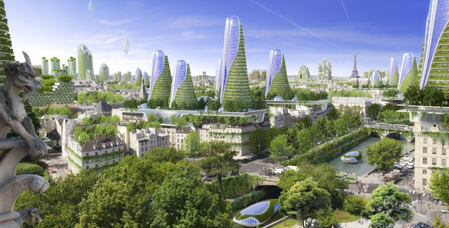 Paris as a green and sustainable future city is even more for Architecture verte