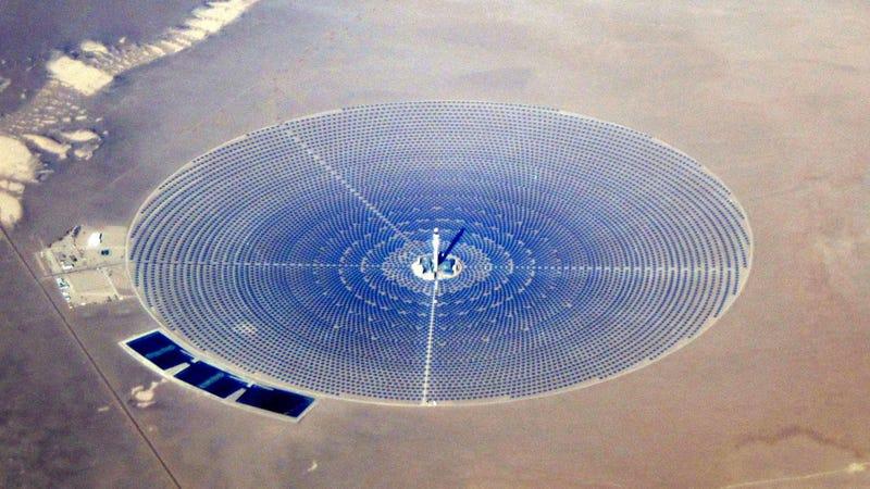 El primer test de una nueva planta solar calcina 130 pájaros