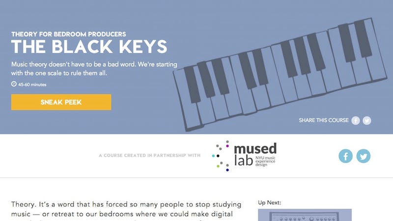 Illustration for article titled This Free Course in Music Production and Theory Teaches You With Tunes You Love