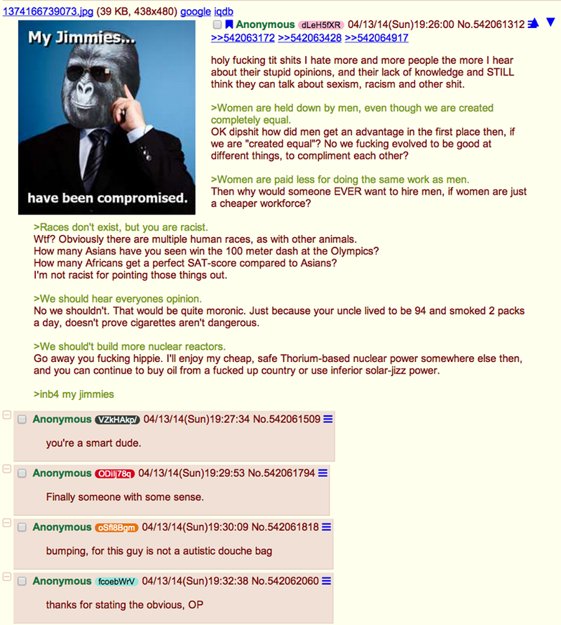 Illustration for article titled Anon's Jimmies Have Been Compromised