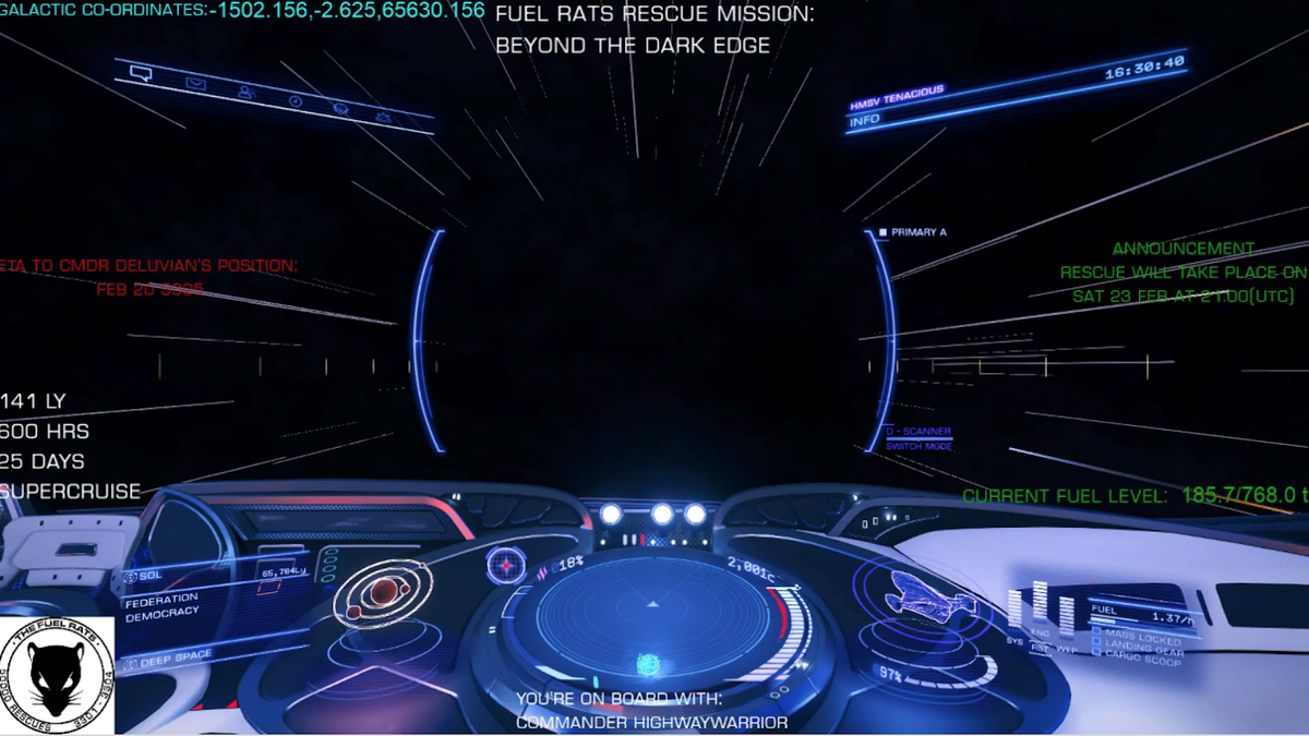 Elite Dangerous Players Are Rescuing A Player Who's Been