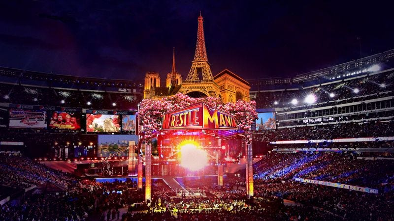 Illustration for article titled WWE Announces WrestleMania 33 Theme Will Be Springtime In Paris